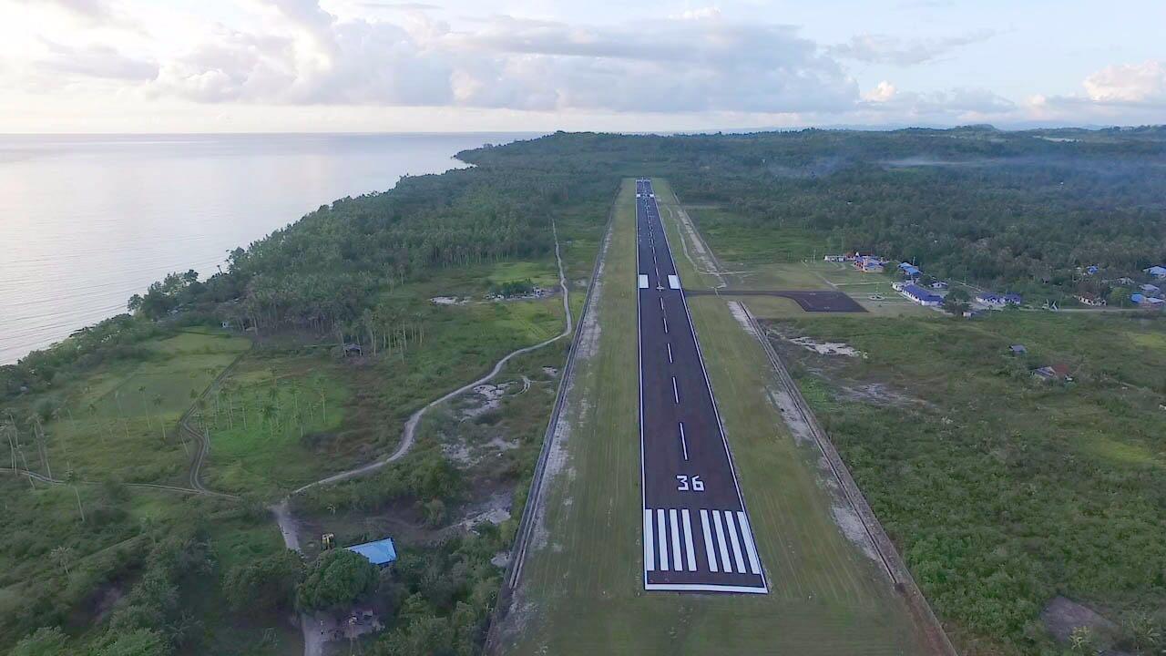 Pembangunan Runway Bandara Melonguane - Sulut