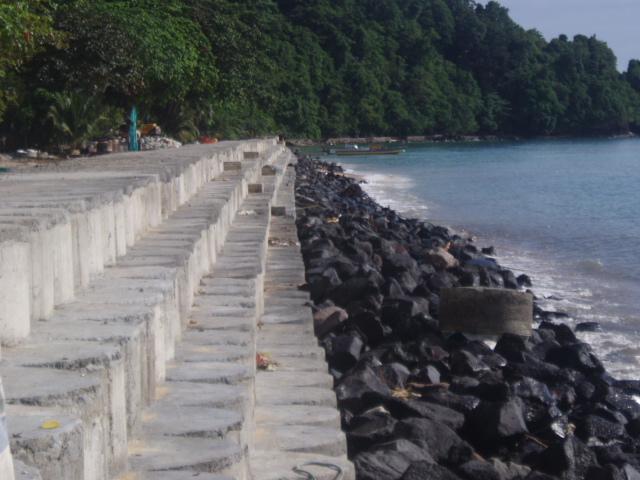 Pembangunan Pengaman Pantai Pulau Kalama - Sangihe, Sulut